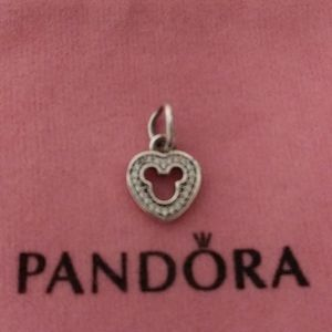 Pandora Silhouette Icon Mickey dangle Charm